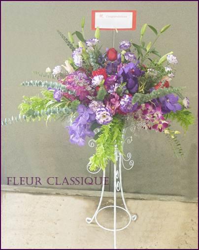 ดอกไม้ในสแตนด์ flower stand