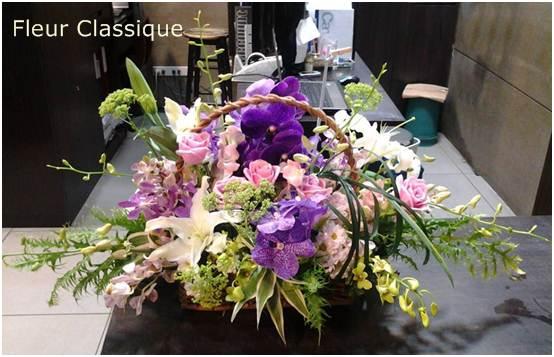 ดอกไม้สดแสดงความยินดี flower basket