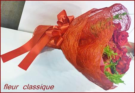 ช่อดอกกุหลาบสีแดง(red roses bouquet) 2