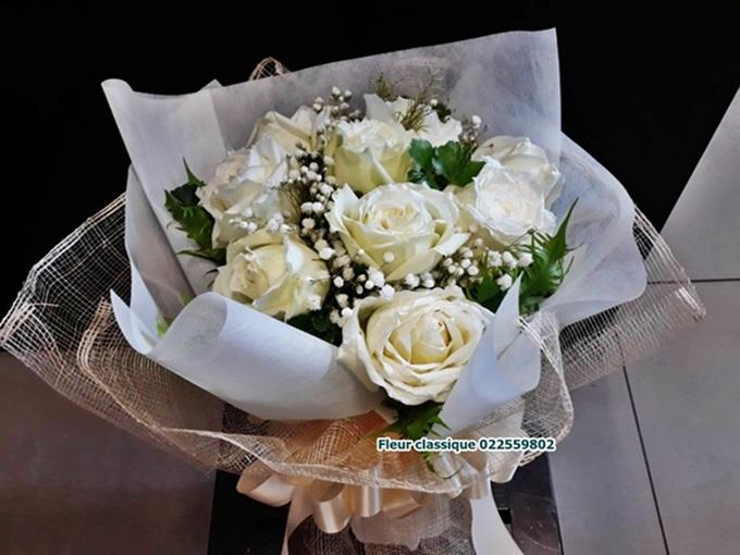 กุหลาบขาว rose bouquet