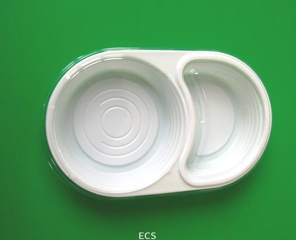 EC009 กล่องอาหาร2 ช่องกลม