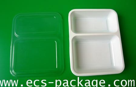 EC010 กล่องอาหาร 2 ช่อง