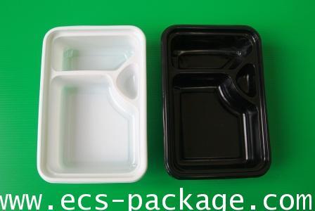 EC011 กล่องอาหาร 2 ช่องแบบมีที่ใส่น้ำจิ้ม