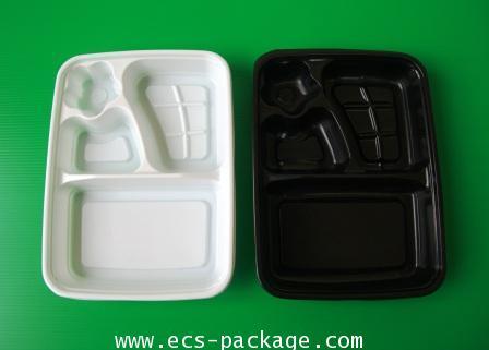 EC022 กล่องอาหาร 4 หลุมดอกไม้
