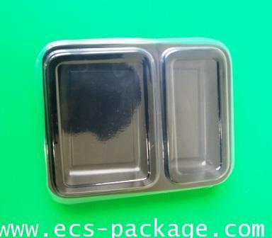 EC010 กล่องอาหาร 2 ช่อง 1