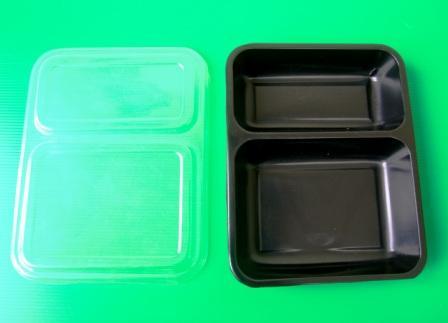 EC010 กล่องอาหาร 2 ช่อง 2