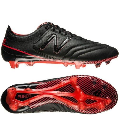 New Balance Furon 3.0 K-Leather FG - Black/Red
