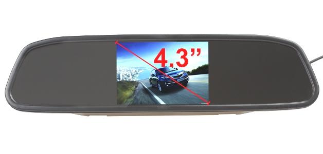 กระจกมองหลังพร้อมจอ TFT LCD 4.3 นิ้ว