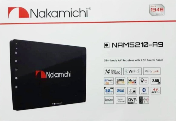 NAKAMICHI NAM5210-A9  (จอ Android 9 นิ้ว)