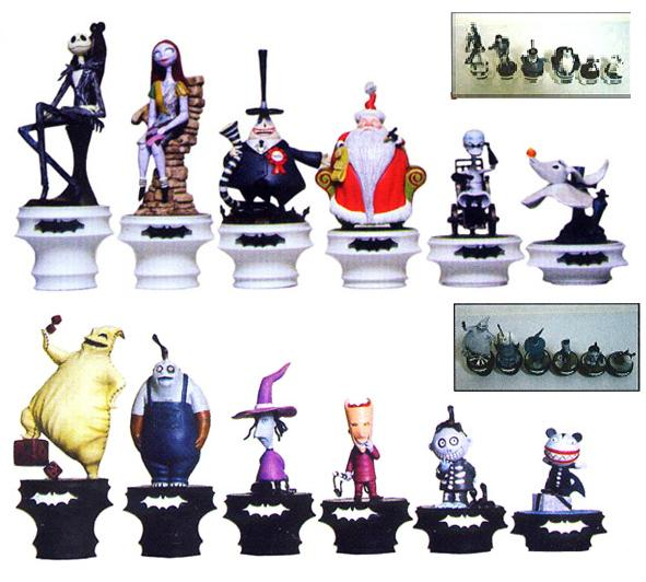 Nightmare Before Christmas Chess 24 Piece