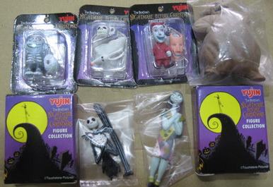 Gashapon Nightmare Before Chistmas set of 6 part I
