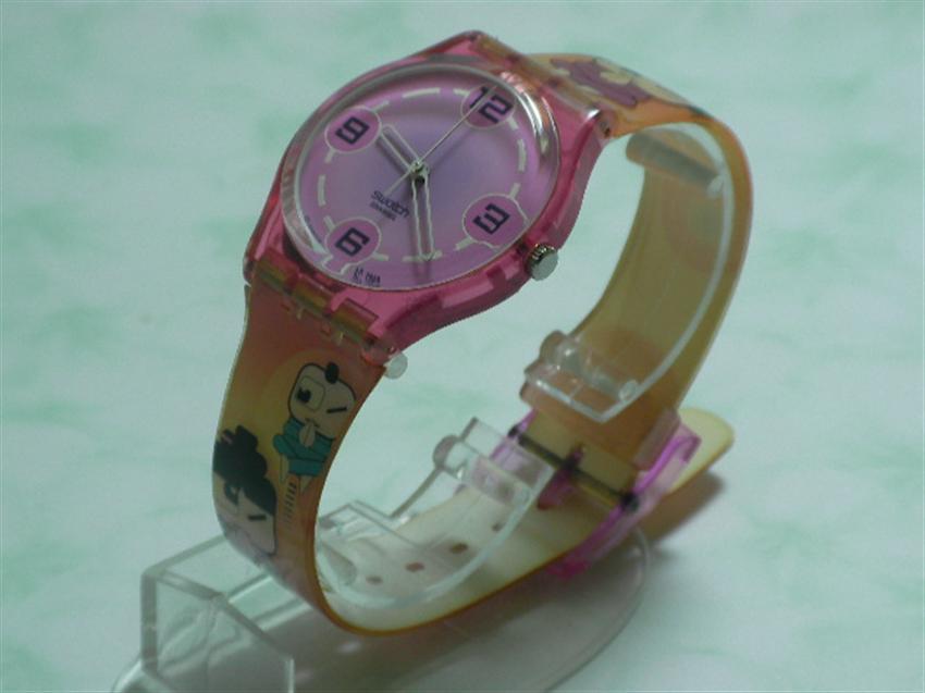 SWATCH  นาฬิกาแฟชั่น ลายการ์ตูนน่ารัก สินค้ามือ 2