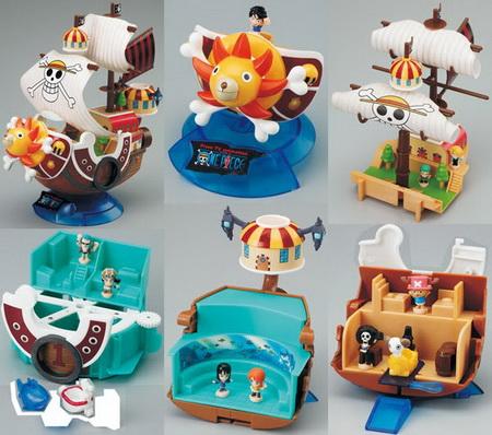 One Piece  Thousand Sunny set of 5