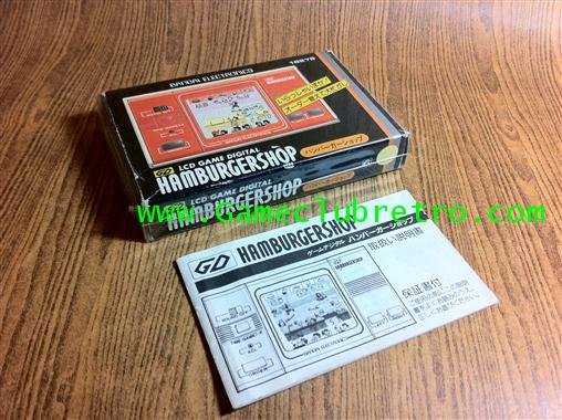 Game  Watch LCD Bandai HambergerShop   เกมกด จีดี ร้าน เบอร์เกอร์ 2