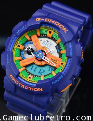 CASIO GA-110FC-2AJF G-SHOCK Watch คาสิโอ จีเอ 110 สี ม่วง ส้ม