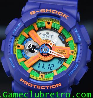 CASIO GA-110FC-2AJF G-SHOCK Watch คาสิโอ จีเอ 110 สี ม่วง ส้ม 1