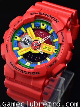 CASIO GA-110FC1AJF G-SHOCK Watch คาสิโอ จีเอ 110 สีแดง เหลือง