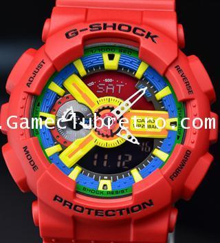 CASIO GA-110FC1AJF G-SHOCK Watch คาสิโอ จีเอ 110 สีแดง เหลือง 1