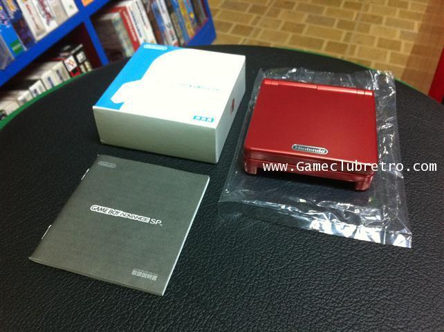 Gameboy Advance SP Red Edition Club Nintendo