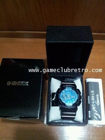 GA-110B-1A2JF Casio G-SHOCK Mens Hyper Colors Black x Blue Watch