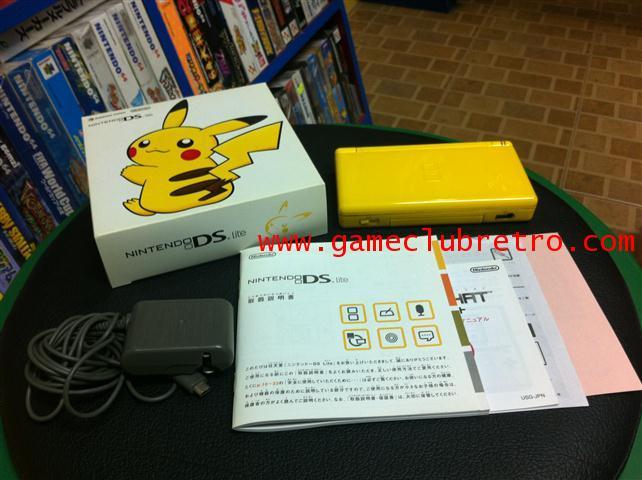 Nintendo DS Lite Pikachu Yellow Limited นินเทนโด ดีเอสไล้ สีเหลือง ลิมิเต็ท