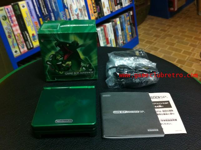 GameBoy Advance SP Rayquaza Green Limited Pokemon Pocket Monster Japan