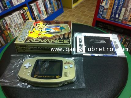 Gameboy Advance Pikachu Limited Gold