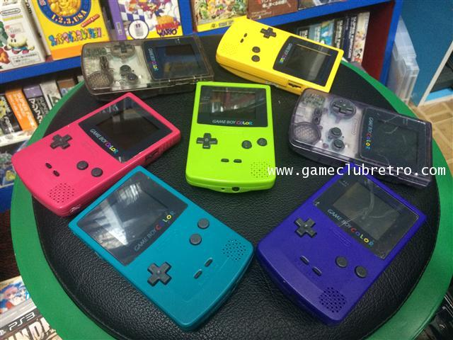 Gameboy Color Blue Green Yellow Clear Purple