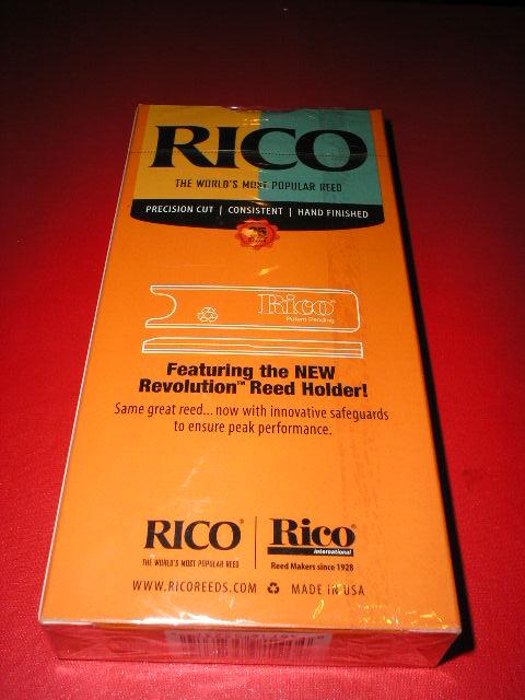 ลิ้น Bb CLARINET ยี่ห้อ RICO กล่องสีส้ม เบอร์ 2.5 บรรจุกล่องละ 25 ลิ้น