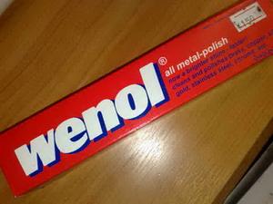 น้ำยาเช็ดเครื่องเงิน  ยี่ห้อ wenol  ผลิตที่ประเทศเยรมัน 100 g