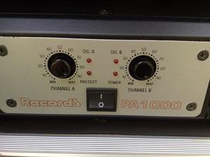พาวเวร์อแอมป์ ยี่ห้อ Record รุ่น PA 1000 กำลังขับ 600X600w เต็มๆ