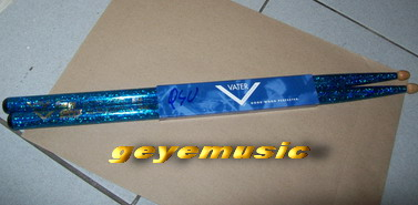 ไม้กลอง VATER GOOD WOOD PERFECTED US PATENT 6326535 5B สีฟ้าเข้มกากเพ็ชร