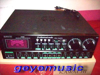 พาวร์เวอร์แอมป์ รุ่น K-3050-5มีช่องต่อ USB+SD+MMCการด์ พร้อมปุ่ม MP3 CONTRD