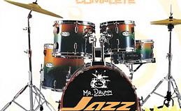 กลองชุด Complefe Mr. Drum Jazz ฉาบ 16 นิ้ว กลอง 5 ใบ Hi- Hat 14 นิ้ว 1 คู่ครบชุด