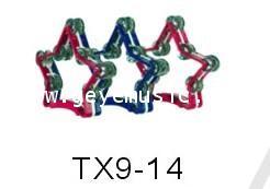 แทมบูรินplastic tambourine headlessเครื่องดนตรีเพอร์คัสชั่นรุ่น TX9-14เป็นเครื่องให้จังหวะ