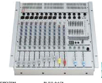 POWERED MIXER PA 1212 - 8+4 CH