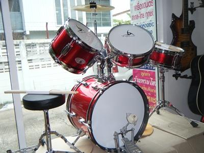 กลองชุดเด็ก Junior Drum set  666 PERCUSSION 3351 บาท รุ่น E-800C 4 ใบ