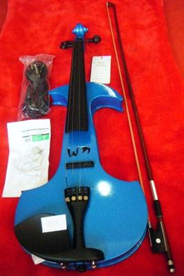 ไวโอลีนไฟฟ้า GIOVANNI MAJINI สีฟ้า มีหลายสีงาน hand craftd คุณภาพดี พร้อมเคสอย่างดี + อุปกรณ์