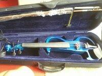 Electric Violin Siserveir GE110 สีน้ำเงินฟ้า 4/4