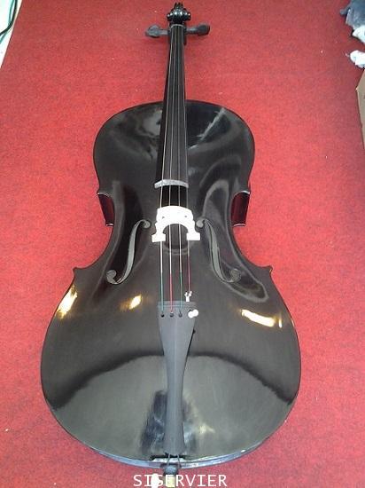 เชลโล่ Siserveir เชลโล cello รุ่น  GCL 15  Black Colorเครื่องดนตรีเชลโล ขนาด 4/4