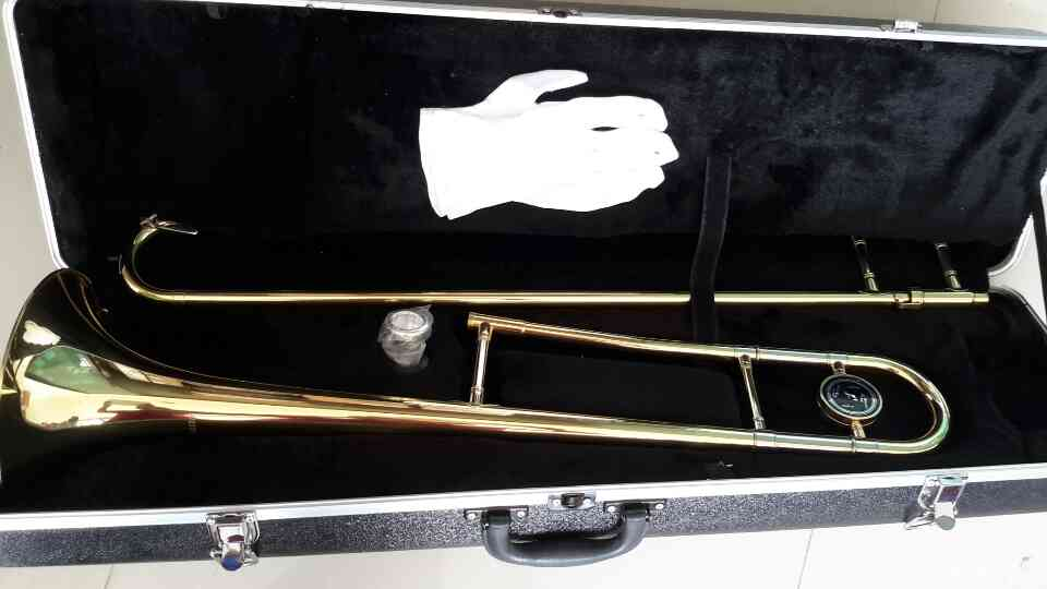ขาย ทรอมโบน เครื่อง เป่า ลม ทองเหลือง รุ่น มาตรฐาน WISDOM Alto trombone-Bb tone-Gold lacquer