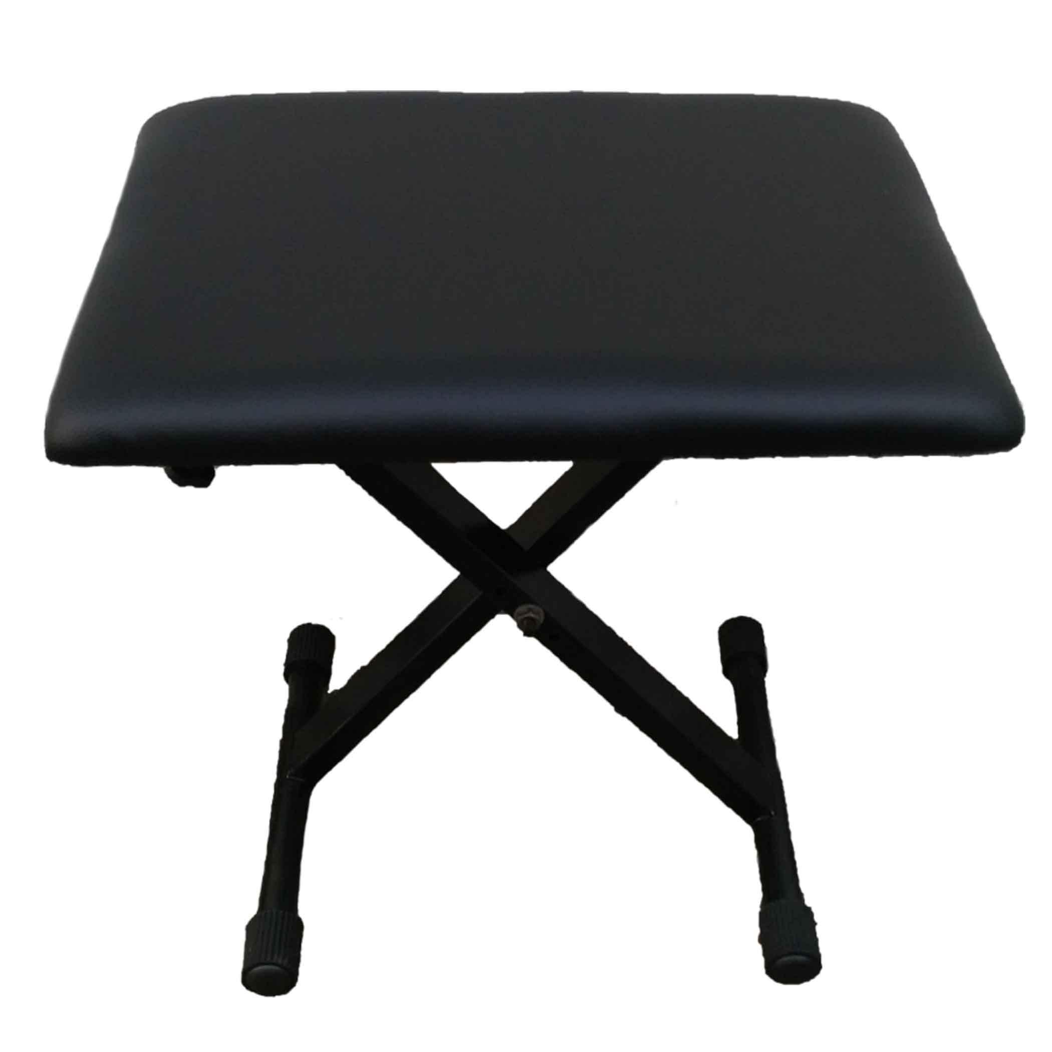 เก้าอี้เปียโน piano bench ยี่ห้อ siservier ผลิตจากเหล็ก อายุการใช้งานยาว เบาะเหลี่ยม นุ่ม ปรับสูงต่ำ
