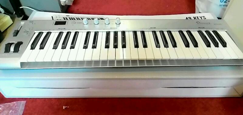 ขาย คีย์บอร์ดMIDI Siserveir MIDI USB Keyboard Controller 49คีย์ มีดี้ คีย์บอร์ดราคาถูก