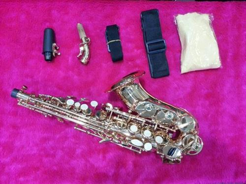 โซปราโน่เคิ้ฟ Soprano Curve Saxophone Wisdom GESC1001