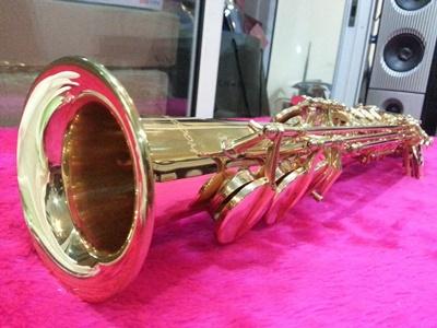 โซปราโน แซคโซโฟน แบบตรง WISDOM รุ่น  2011 Soprano Saxophone-Bb tone-straight, High F, Gold Laquer