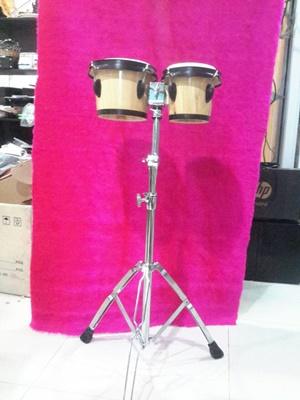 กลองบองโก้ Triplesix พร้อมขา Professional bongo-6.5quot;  7.5quot;-With stand-Birch wood, True ski