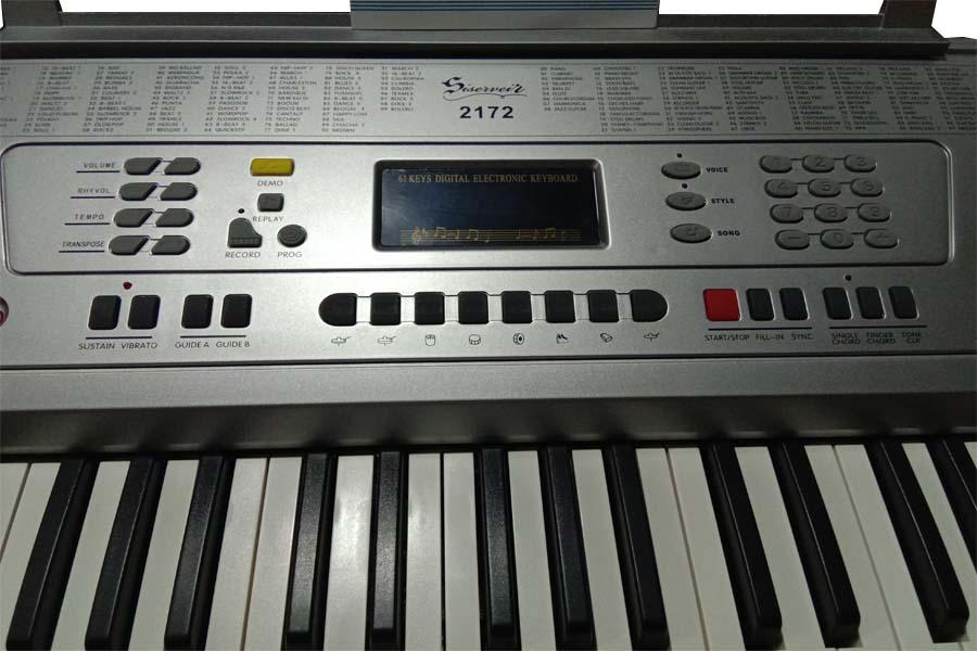 คีย์บอร์ดไฟฟ้าราคาถูก Siservier รุ่น ARK 2172เครื่องดนตรี คีย์บอร์ด ซื้อเงินสด 2543 บาท ราคาไม่แพง
