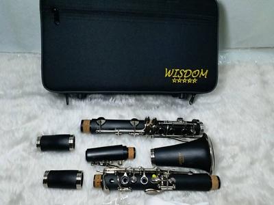 คาริเน็ท ยี่ห้อ WISDOM คลาริเน็ต รุ่น FCL-210 N ขายคลาริเน็ต คุณภาพดี พร้อมกล่องและอุปกรณ์