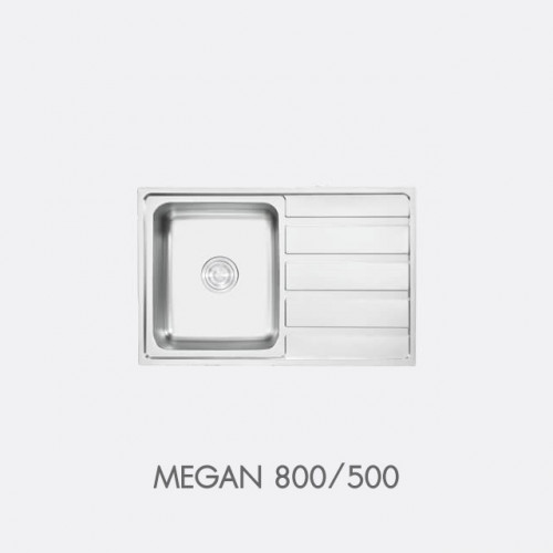 ซิงค์ล้างจาน สแตนเลส 1 หลุม EVE รุ่น MEGAN 800/500