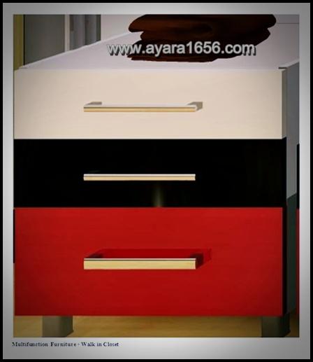 ตู้ลิ้นชัก 3 ชั้น หน้าบาน Acrylic 60 cm.